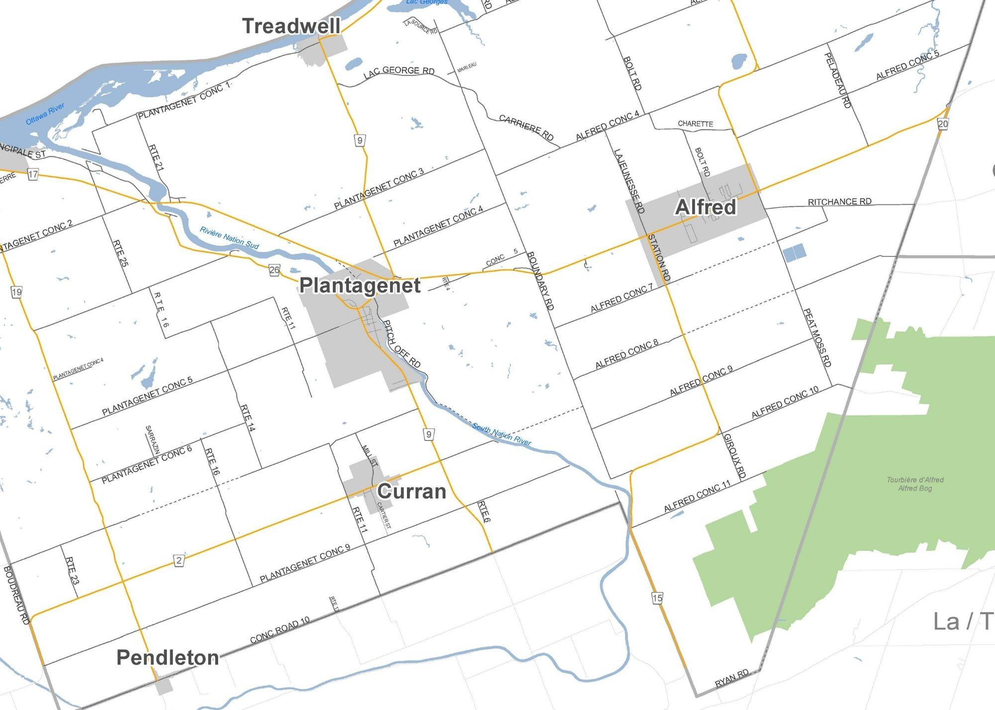 Map of the Township of Alfred and Plantagenet